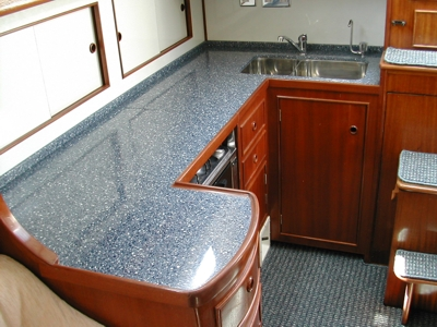 Newly Constructed Galley With Corean Worktops