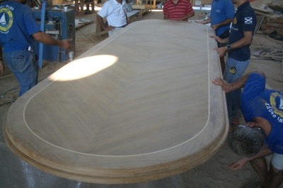 Teak Table In Progress
